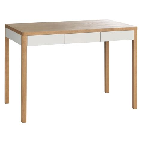 table and l in one albion oak and white 3 drawer oak desk buy now at habitat uk