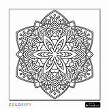 Mandala Coloring Pages Square Advanced Printable Nature Adults Awesome Brace Laura Sheets Intricate Level Adult Shapes Getcolorings sketch template