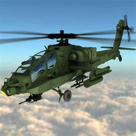 3d Model Apache Helicopter For Poser