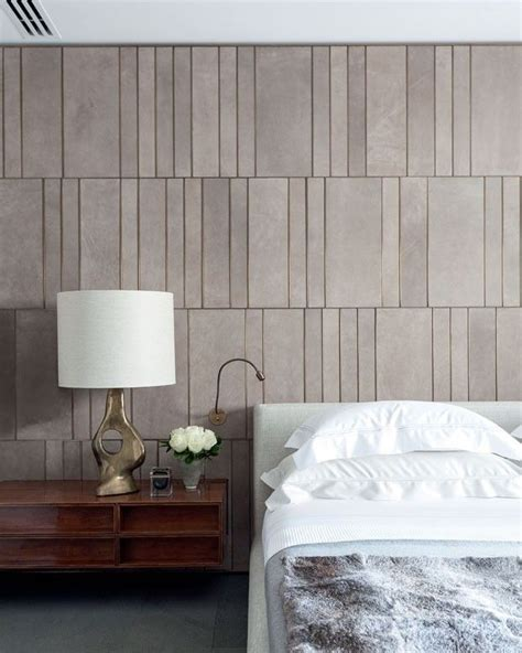 wall with brass inlays modern bedroom design
