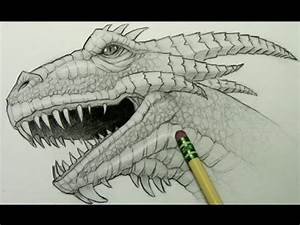 How to Draw a Dragon Head - YouTube