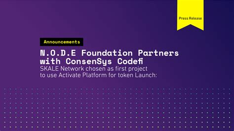 Skale network ретвитнул(а) outlier ventures. NODE Foundation partners with ConsenSys on SKALE network ...