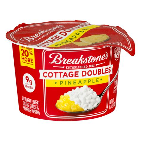 non dairy cottage cheese breakstone s cottage cheese doubles pineapple 100 calories