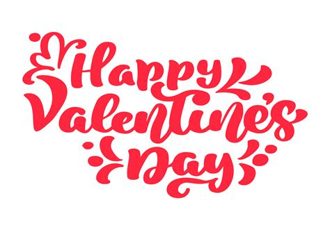 Happy Valentines Day vector typography poster with ...