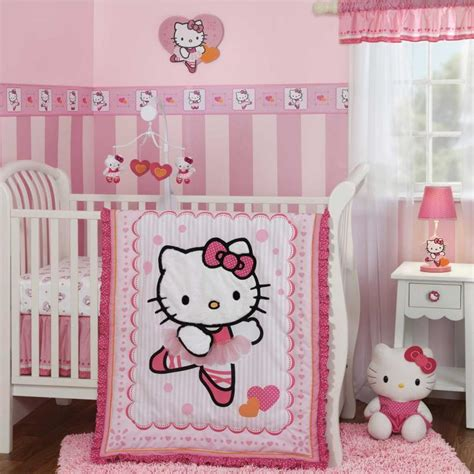 hello kitty crib set hello kitty ballerina pink and white baby