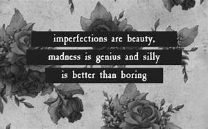 Perfect Imperfe... Madness And Brilliance Quotes