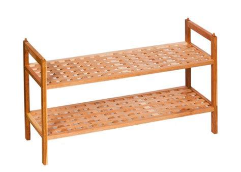 Schuhregal Stapelbar Luxus Möbel Holz Regal Walnuss
