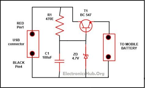 Usb Mobile Charger Circuit Mini Projects