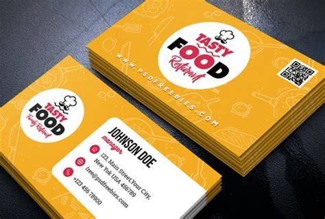 catering visiting card templates free business card template psds for photoshop 100 free