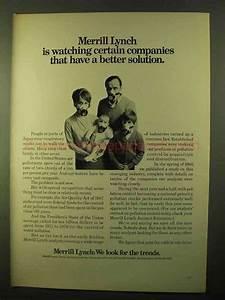 1970 Merrill Lynch Ad - Watching Certain Companies