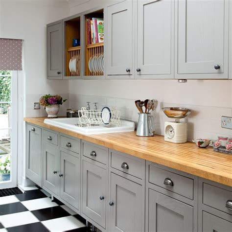 Greypainted Kitchen Wall And Base Units  Makeover Grey