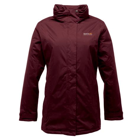 regatta womens blanche ii waterproof insulated jacket dark burgundy sports leisure zavvi uk