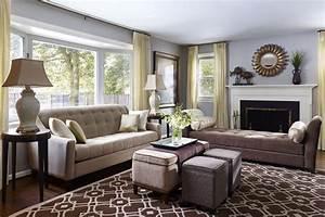 Transitional Living Room Modern World Furnishing Designer