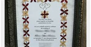 gina39s craft corner framed wedding invitation with With framed wedding invitation dried flowers