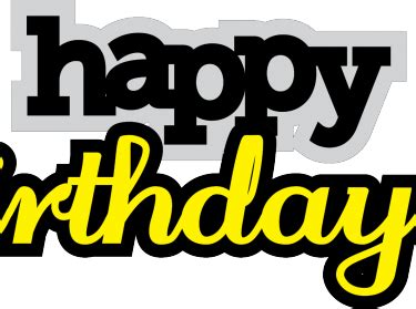 happy birthday words svg cutting file meylah