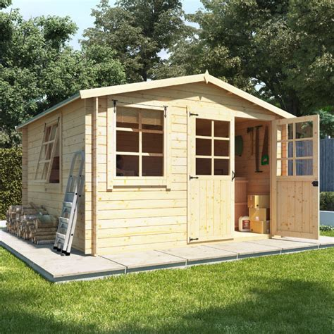 log cabin sheds billyoh clubman heavy duty shed log cabin traditional