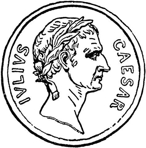 caesar coin clipart