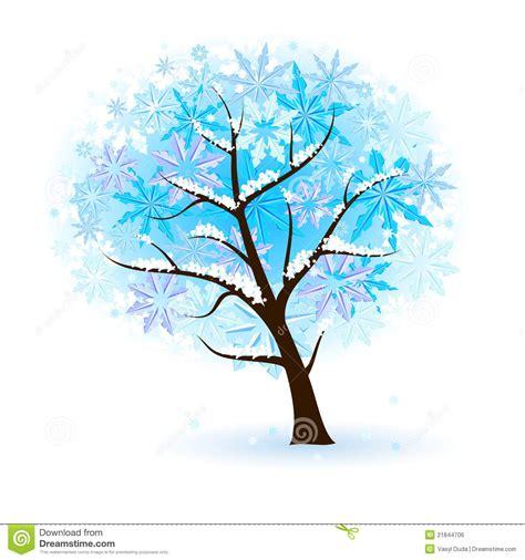 stylized winter fruit tree royalty  stock image