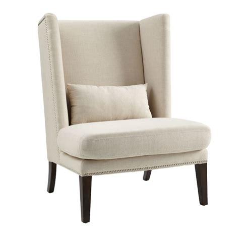 malibu fabric wing chair with brown leg buy seating