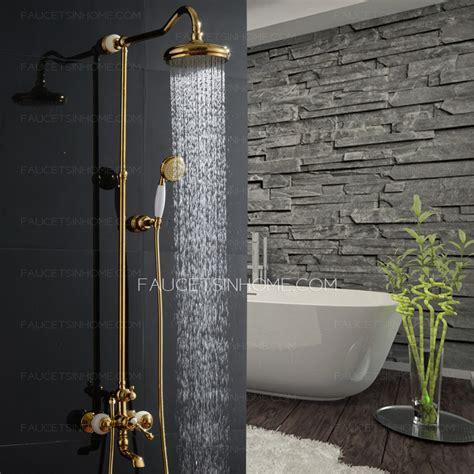 unique rose gold jade brass  bathroom shower faucets