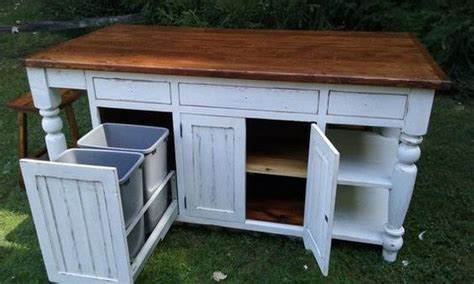 Build a kitchen island with trash storage   DIY projects