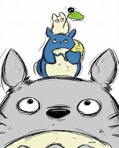 Totoro Totem Pole by SpotofInk on DeviantArt