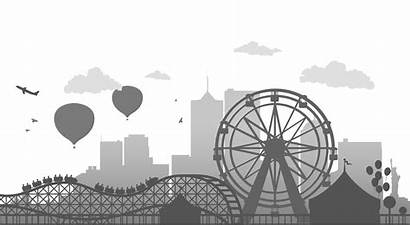 Ferris Wheel Vector Silhouette Illustration Clipart Drawing