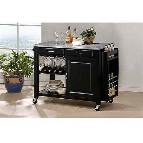 wholesale kitchen islands wholesale interiors baxton studio phoenix kitchen island with granite top grey walmart com