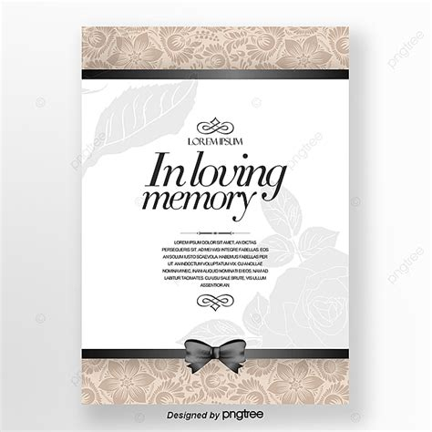 invitation letter  simple european funeral cards