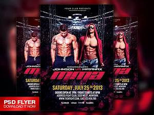 fight mma ufc night flyer template psd on behance With ufc poster template
