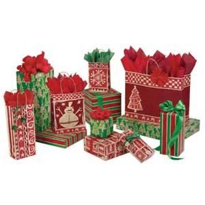 homespun christmas gift bags box and wrap