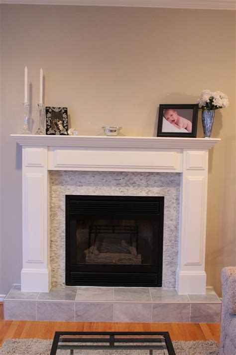 tile  fireplace tile  brick fireplace