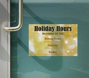 Free Holiday Business Hours Sign Template Lifehacked1st Com