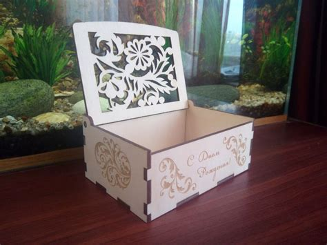 wood laser cut box wood puzzle box mm  vector cdr