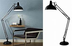 Bq tecton giant anglepoise style lamp for your living for Tecton chrome floor lamp