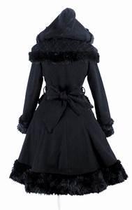manteau gothique lolita noir punk rave avec fausse With vêtements gothiques femme