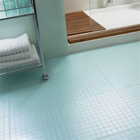 Light Blue Mosaic Tiles Flooring For Bathroom With Movable