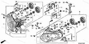Honda Motorcycle 2008 Oem Parts Diagram For Headlight
