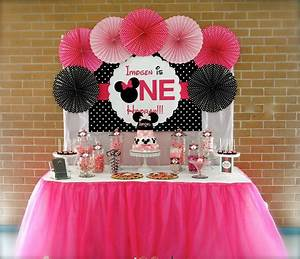 Minnie Mouse First Birthday Party - Little Wish Parties