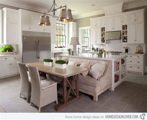 attractive eat in kitchen table best 25 island table ideas