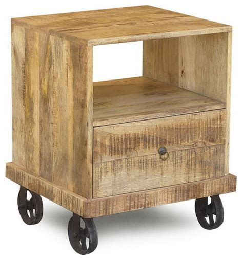 end table with wheels industrial end table with wheels eclectic side tables