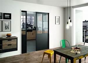Porte Placard Verriere : porte galandage des portes coulissantes belles et pratiques c t maison ~ Melissatoandfro.com Idées de Décoration