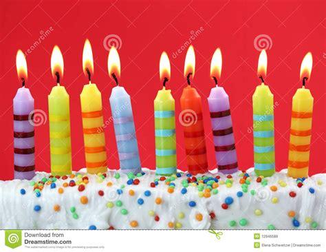 neuf bougies d anniversaire images libres de droits image 12946589