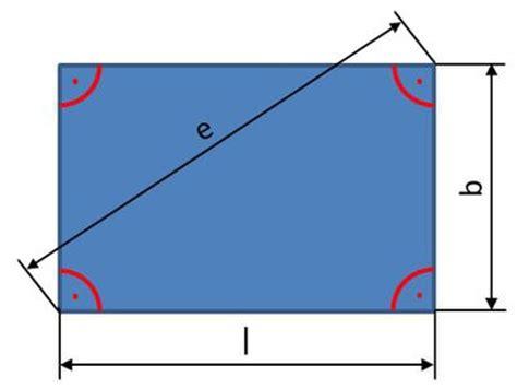 rechteck umfang diagonale flaecheninhalt  rechteck