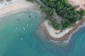Free, Stock, Photo, Of, Beach, Bird, U0026, 39, S, Eye, View, Boats