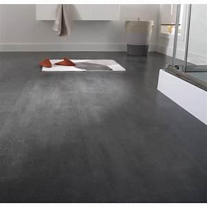 dalle stratifiee effet beton noir ep8 mm novofloor With parquet effet beton