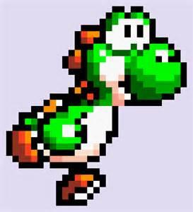 Mario Pixel Art Yoshi