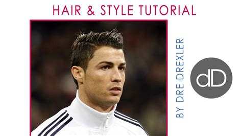 how to style your hair like cristiano ronaldo cristiano ronaldo hair tutorial style by dre drexler 7089
