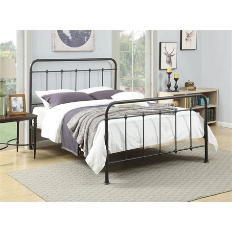 17303 metal bed frame pri all in 1 brown bed frame ds 2645 290 the home