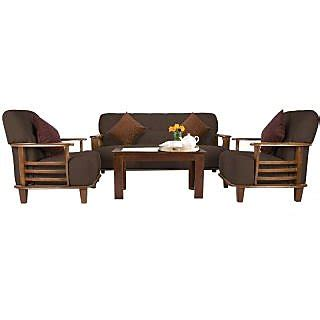 Wooden Sofa Set Shopping by Buy Fabbulls Walenty Wooden Coffee Fabric 3 1 1 Sofa Set